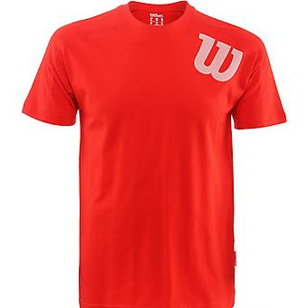 Wilson Angled Crew T-Shirt Men's red WRE200012