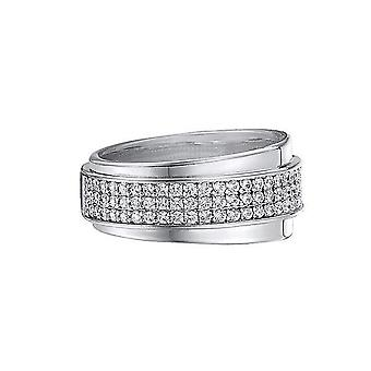 ESPRIT women's ring silver zirconia glamour curve ESRG91437A1