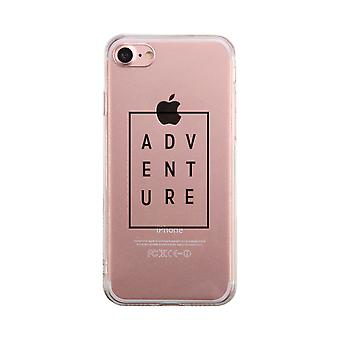 Adventure Transparent Simple Phone Case Cute Clear Phonecase