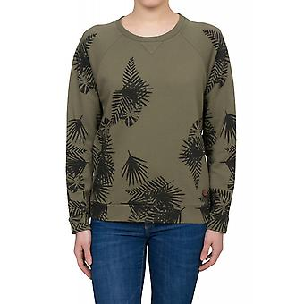 Lee Leaves SWS Shirt Damen Sweatshirt Grün mit Palmenprint