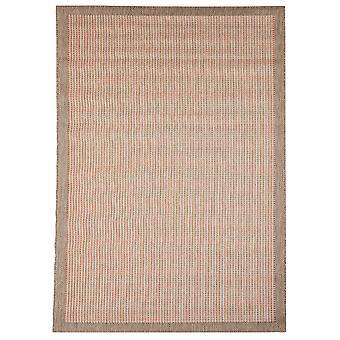 Moderne Terracotta Flatweave stue tæppe - Floorit