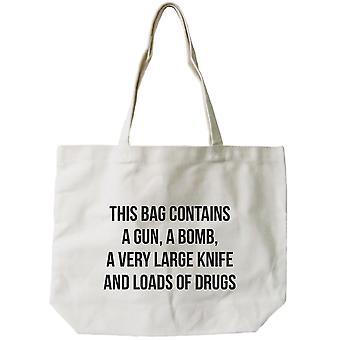 Kvinnors återanvändbara Canvas väska - Funny 'Farliga' naturlig Canvas Tote Bag