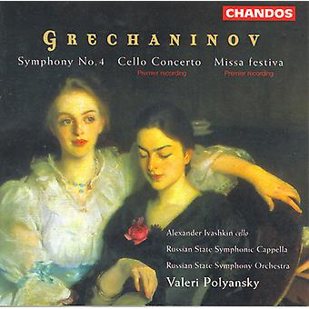 A. Grechaninov - Grechaninov: Symphony No.4/Cello Concerto/Missa Festiva [CD] USA import