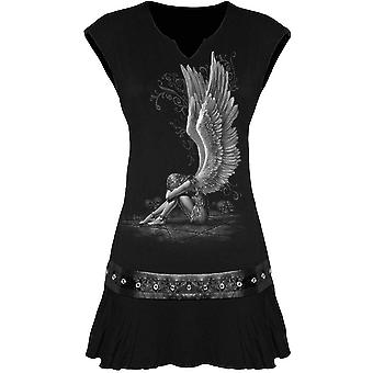 Spiral - ENSLAVED ANGEL - Women's Stud Waist Mini Dress, Black