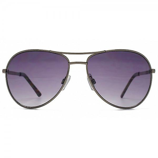 French Connection Classic Aviator Sunglasses In Dark Gunmetal
