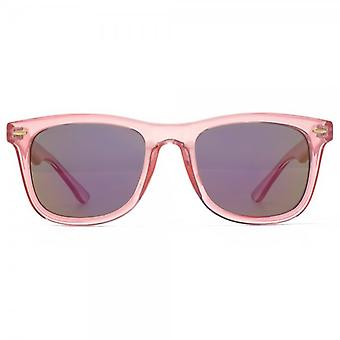 M:UK Brixton Retro Style Sunglasses In Crystal Pink
