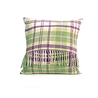 Tweedmill Pure New Wool Check Cushion - Cottage Pink 40cm X 40cm
