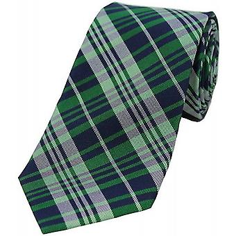 David Van Hagen Tartan Pattern Silk Tie - Green