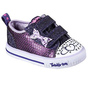 Skechers Itsy Bitsy Girls Toddler Canvas Shoes