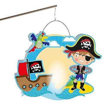 Pirates lanterns set craft 30 x 24 cm Lantern pirates