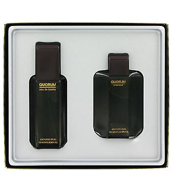 Antonio Puig Quorum Gift Set 100ml EDT + 100ml Aftershave