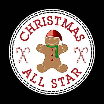 Christmas Gingerbread Man All Star Converse Logo Kid's T-Shirt