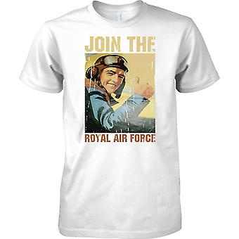 Join The Royal Air Force - WW2 Poster - Mens T Shirt