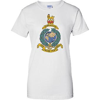 Royal Marines Globe And Laurel Insignia - Ladies T Shirt