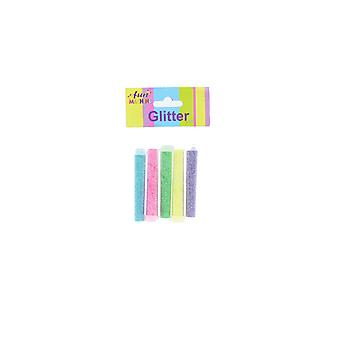 Fun Machine Pack of 5 Colourful Glitter Tubes For Craft Projects & Decoration