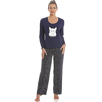 Camille Navy Blue Scotty Dog Pyjama Set