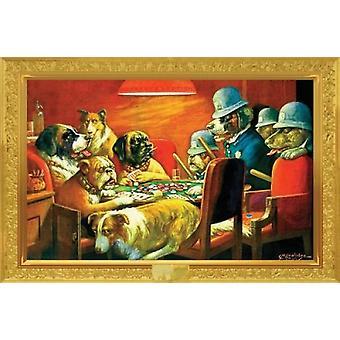 Poker honden - Busted - Kelly Poker - Cassius Marcellus Coolidge Poster Poster afdrukken