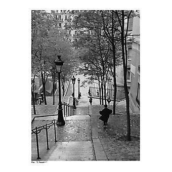 Escaliers a Montmartre Paris Poster Print by Henri Silberman (23 X 31)