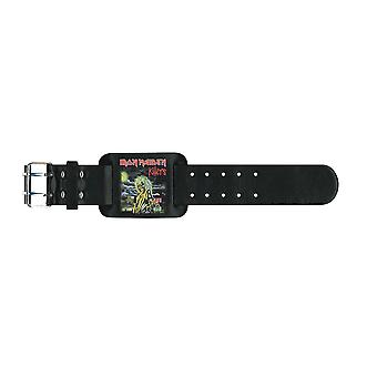 Iron Maiden Wristband Killers band logo new Official black Leather