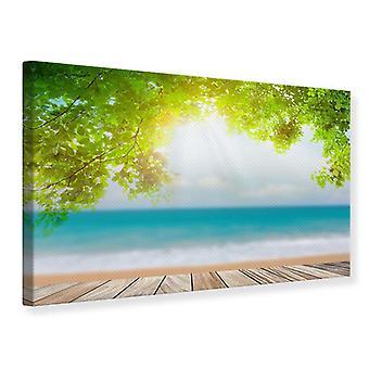 Canvas Print Beach Terras