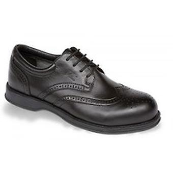 V12 VC100 Diplomat Black Executive Brogue Shoe EN20345:2011-S1 Size 10