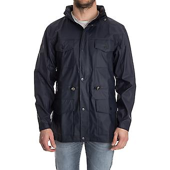 Rains Herren FOURPOCKETBLUE Bordeauxrot Polyurethan Jacke