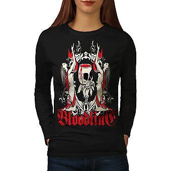 Blut-Tod Horror Frauen BlackLong Sleeve T-shirt | Wellcoda