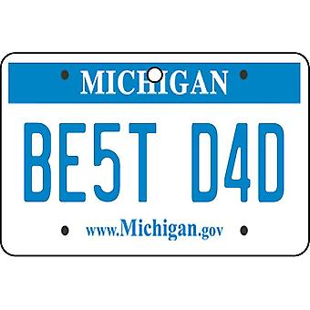 Michigan - Best Dad License Plate Car Air Freshener