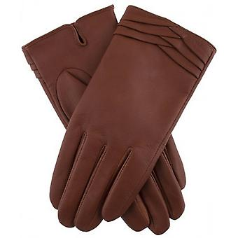 Dents Katrina Folded Cuff Detail Gloves - Cognac