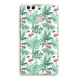 Huawei P9 Full Print Case - Flamingo leaves