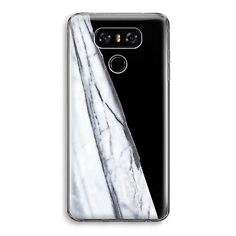 LG G6 Transparent Case - Striped marble