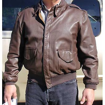 Mens Avirex Flight Leather Jacket Made With Goatskin Leather
