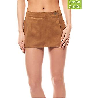 Aniston of Shorts Pants women's plus size faux leather Brown