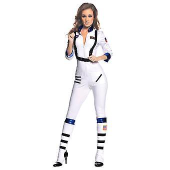Sexy Astronaut NASA Uniform White Space Girl Jumpsuit Women Costume