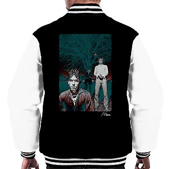 The Cure In Front Of Trees Men's Varsity Jacket