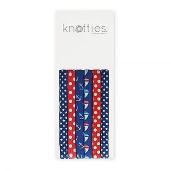 Knotties Wide Elastic Hair Ties - Sail Away (6 Pack)