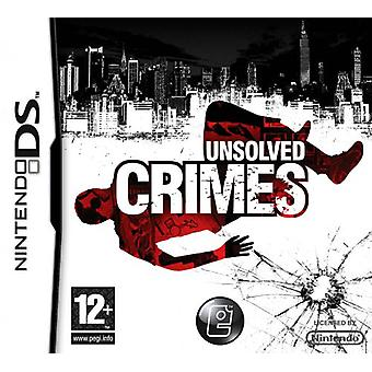 Unsolved Crimes (Nintendo DS) - Factory Sealed