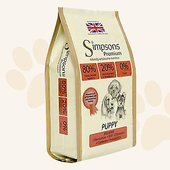 Simpsons Premium Puppy 80/20 Mixed Fish & Chicken Dry Dog Food - 2kg