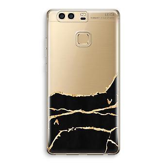 Huawei caja transparente P9 (suave) - mármol del oro