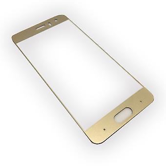 Full Hartglas 0,26 mm dünne H9 Schock Gold für Huawei Honor 9 Schutz Hülle Neu