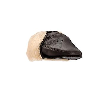 Eastern Counties Leather Mens Newton Sheepskin Nappa Finish Cap