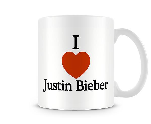 Jeg elsker Justin Bieber trykte krus