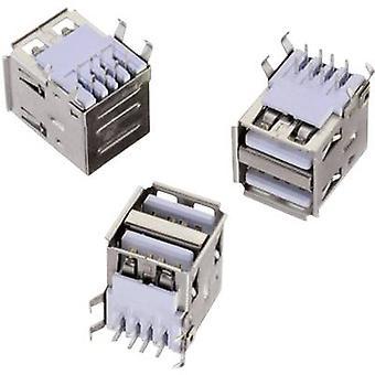 USB typu pozioma 2-sposób WR-COM Socket, poziomego montażu WR-COM Würth Elektronik zawartości: 1 szt.