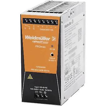 Weidmüller PRO MAX 240W 48V 5A Rail gemonteerd PSU (DIN) 48 Vdc 5 A 240 W