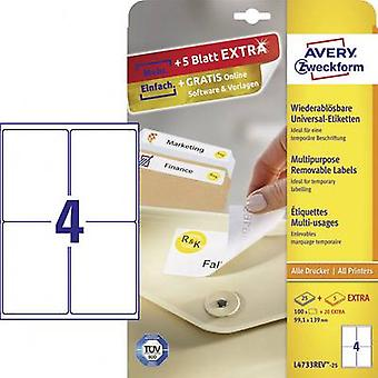 Etiquetas Avery Zweckform L4733REV 25 99.1 x 139 mm papel