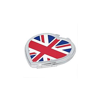 Union Jack Wear Union Jack Heart Compact Mirror