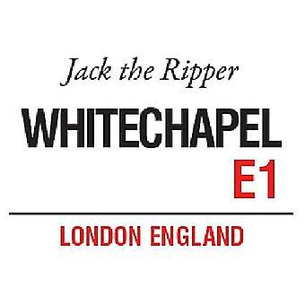 Whitechapel de Londres Jack l'éventreur petit en acier signer 200 X 150 Mm