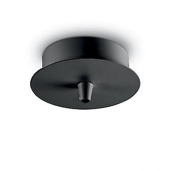 Ideal Lux Cup MSingle Pendant Light Black