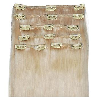 #22 Hollywood Light Blonde - Clip-in Hair Extensions - Full Head