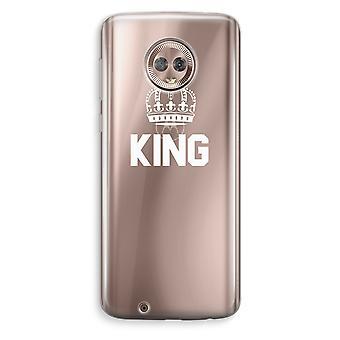 Motorola Moto G6 Transparent Case (Soft) - King black
